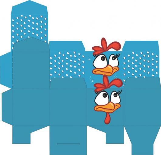 kit festa galinha pintadinha caixa azul