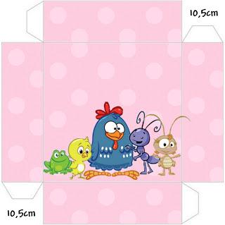 kit festa galinha pintadinha caixa para doces