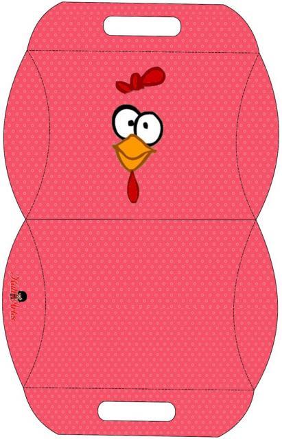 kit festa galinha pintadinha caixa simples