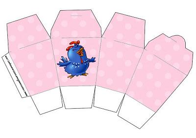 kit festa galinha pintadinha caixinha de doces