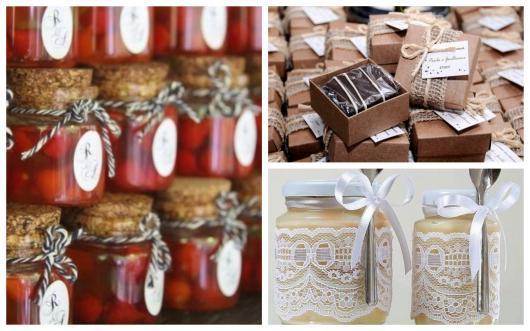 temperos e doces para lembrancinha de casamento rústico