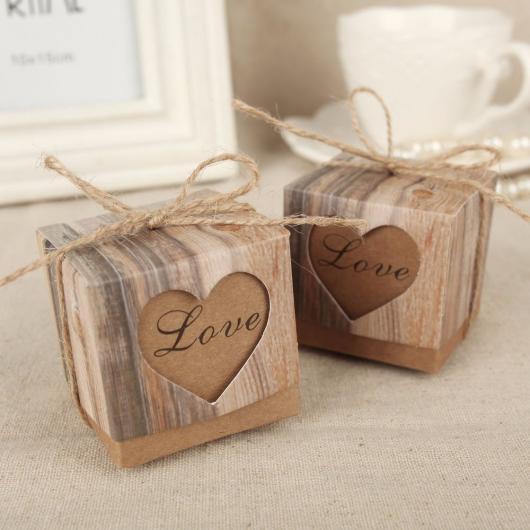 Caixinhas decoradas para casamento rustico