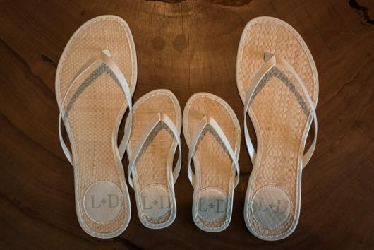 chinelos para casamento rústico