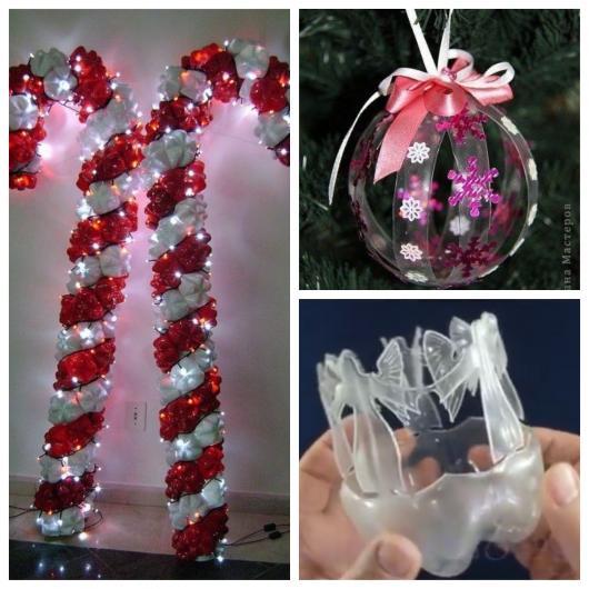 40 lindas lembrancinhas de Natal com garrafa PET para todos os gostos