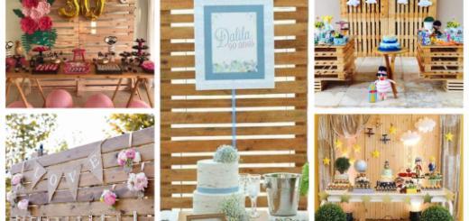 dicas para decorar uma festa com painel de madeira