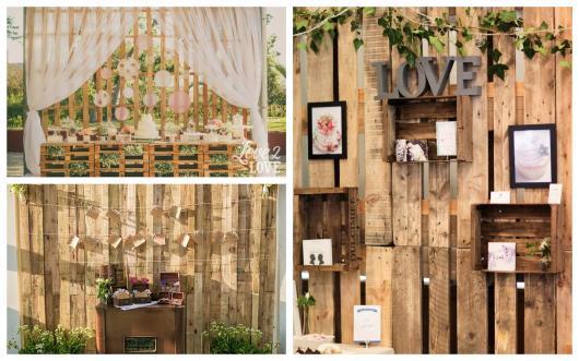 painel de madeira para decorar casamentos