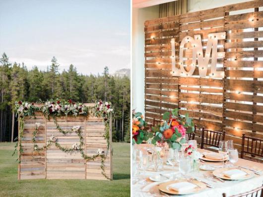 painel de madeira para decorar festa de noivado