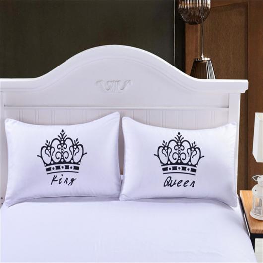 Fronha com desenho divertido para cama de casal