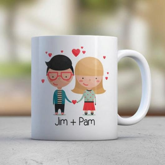 Caneca fofa personalizada para casal