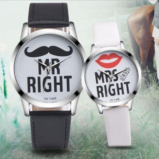 Relógio personalizado para presentear casal