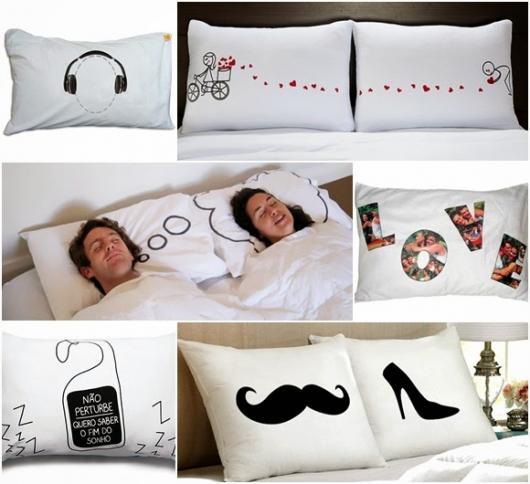Jogos de cama personalizados são sempre ótimos presentes para casais