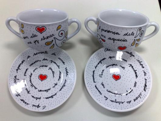 Dupla de xícaras para casal