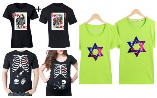 E que tal presentear o casal com camisetas divertidas?