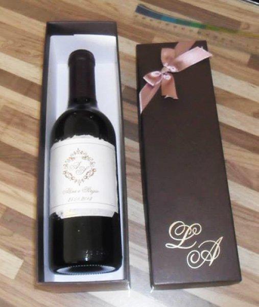 Presente Unissex criativo caixa com champagne