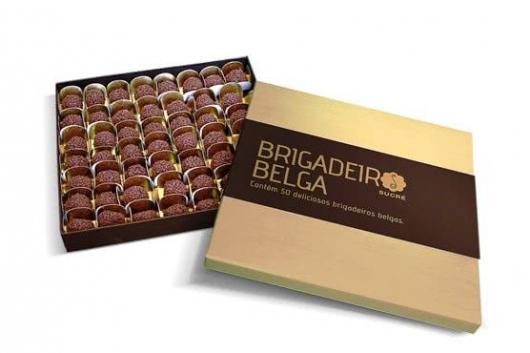 Presente unissex caixa de chocolate