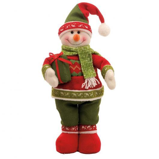 Presente unissex para Natal boneco de neve de feltro para decoração