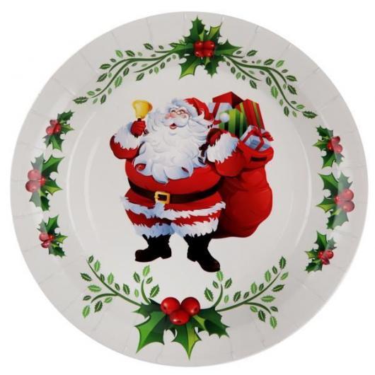 Presente unissex para Natal prato personalizado