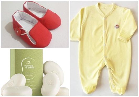 Presente unissex para bebê macacão amarelo
