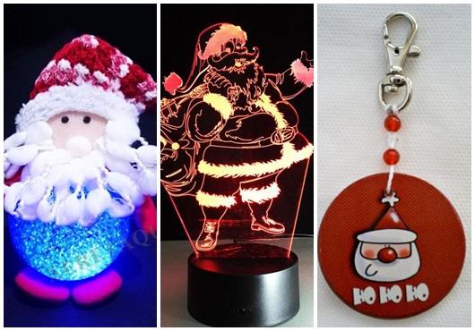Presente unissex para Natal Papai Noel iluminado