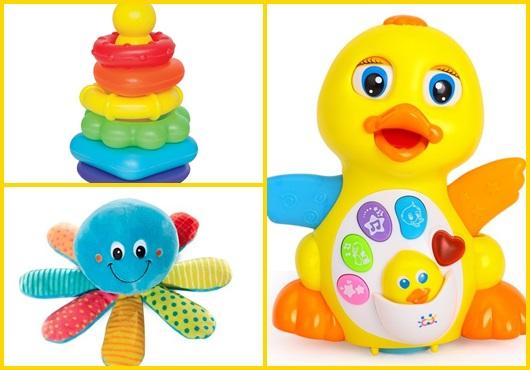 Presente unissex para bebê brinquedos