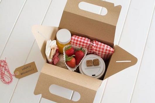 Presente Unissex criativo caixa de café da manhã