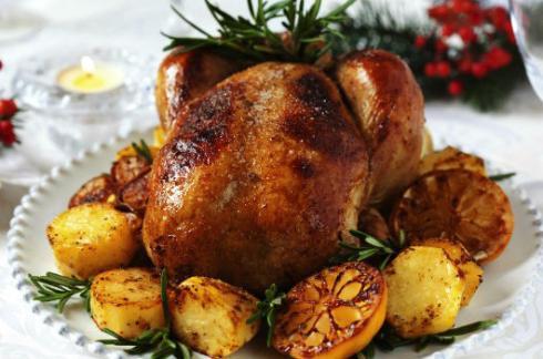 Chester de Natal com batatas