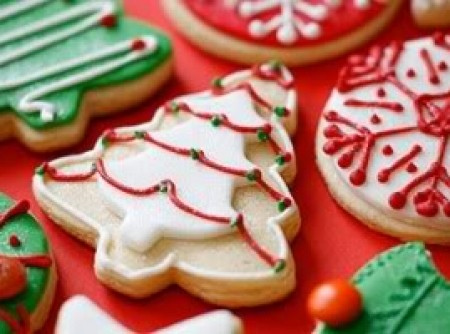Biscoito de Natal decorado