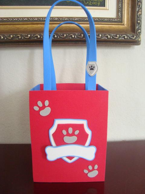 sacolinha personalizada patrulha canina de EVA