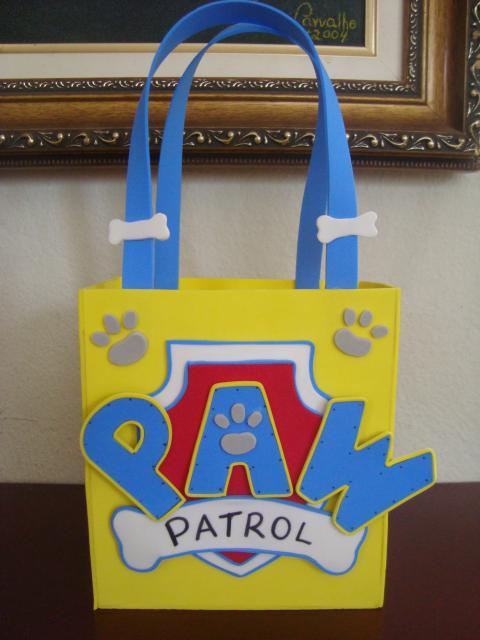 Sacolinha divertida para festa da patrulha canina