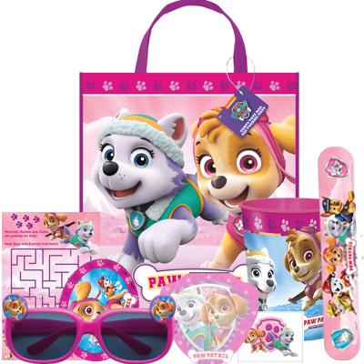 Sacola de plástico personalizada da Patrulha Canina para festinha de meninas