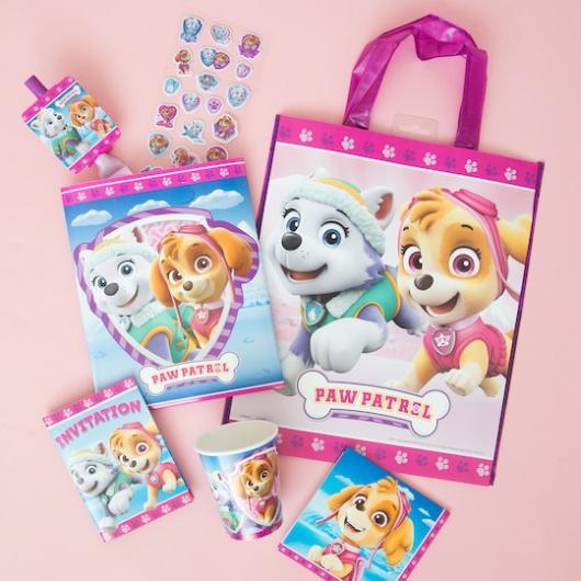 Sacolinhas personalizadas da Patrulha Canina para festas de meninas