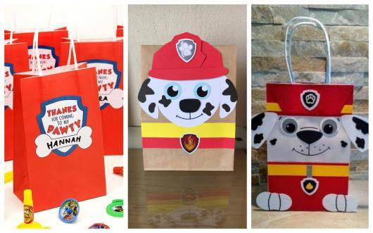 sacolinha decorada patrulha canina