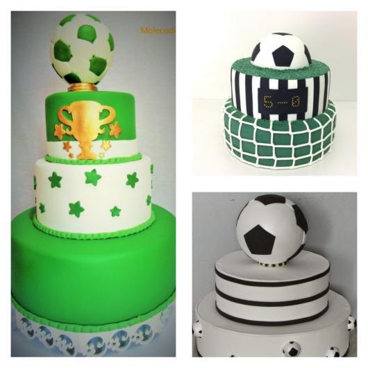 50 inspirações incríveis de bolo futebol: escolha a melhor para sua festa!