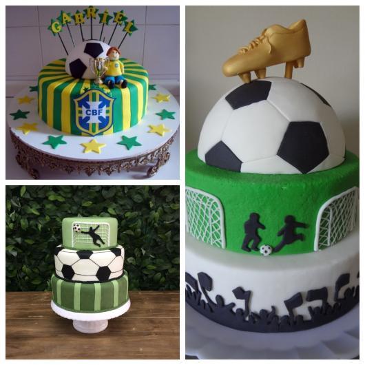 Siga uma série de padrões e ideias para criar um bolo futebol impecável!