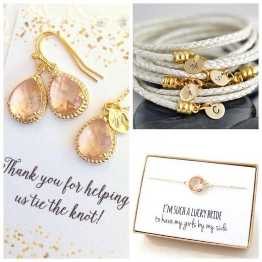 Três sugestões de jóias para lembrancinhas para madrinhas de casamento.