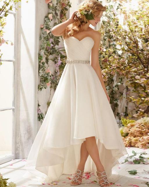 Vestido de noiva mullet.