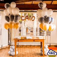 Balão de gás hélio de letra com a palavra CAIO
