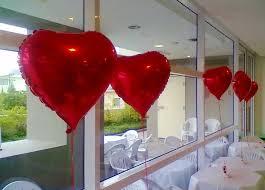 Balão de gás hélio de coração vermelho