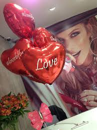 Balão de gás hélio de coração vermelho personalizado com frases