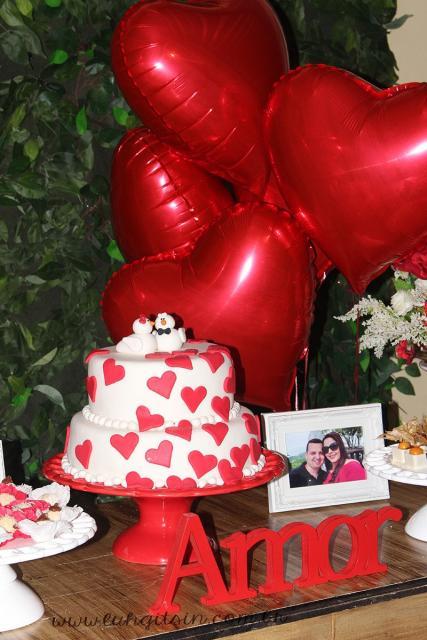 Balão de gás hélio de coração para casamento