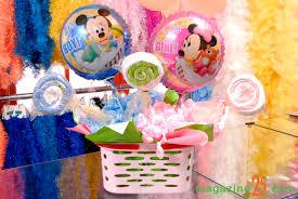 Balão de gás hélio da Minnie para centro de mesa