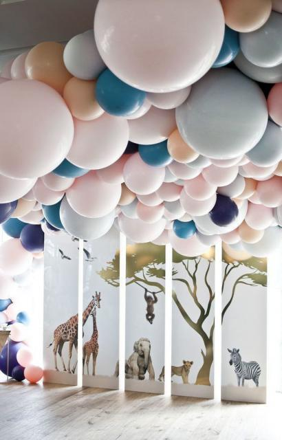 Balão de gás hélio tema Safari