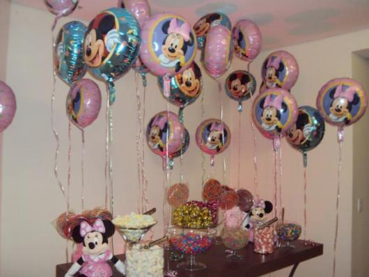 Balão de gás hélio metalizado tema Minnie