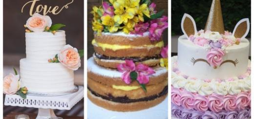Conheça muitas ideias lindas de bolos de dois andares