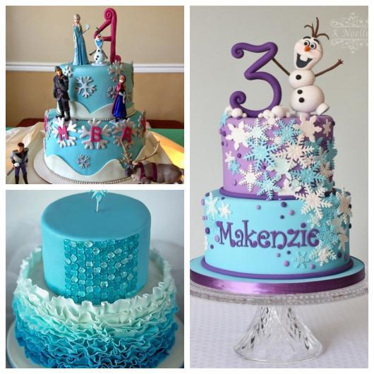 Bolos inspiradores de dois andares da Frozen