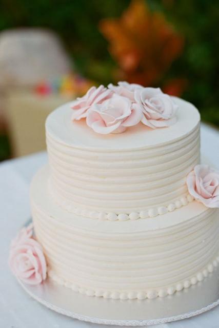 Ideia de como cobrir o bolo com chantilly