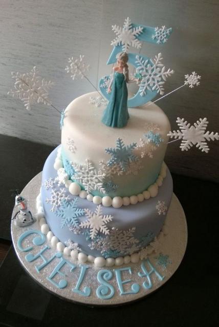 Opção de bolo de dois andares da Frozen