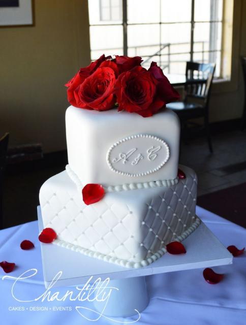 Você pode fazer um bolo quadrado para casamento