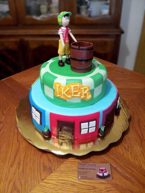 O Chaves merece todo o destaque no bolo decorado