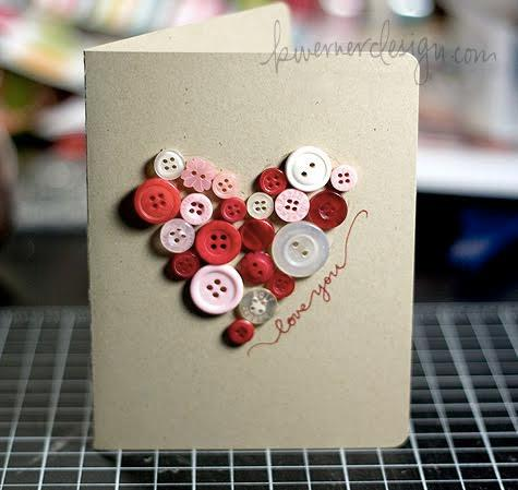 cartão de natal com coração